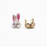 일본 직수입-팔나트폭 토끼와 냥이 (ウサネコ)