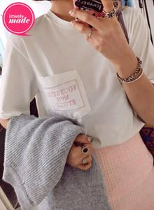 [임블리]나의별 티셔츠/데일리룩/봄신상/라운드/베이직/면티/반팔티셔츠/루즈핏