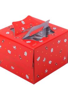 쉬폰 케익박스 1호 (크리스마스) (케익상자/케익박스/케익포장/cake box)