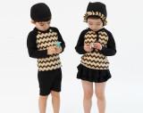 [자외선차단 아동수영복] 여름 지그재그 아동래쉬가드 유아동수영복