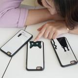 아이폰6s/6/플러스 케이스 블랙고양이 스트랩