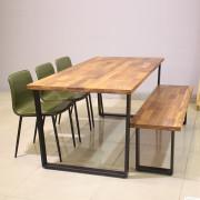 [광성가구] 멀바우 원목철제 6인식탁세트(의자덤) SM