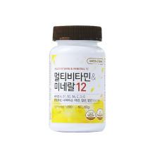 그린스토어 츄어블 멀티비타민 & 미네랄 12 (60일분) 하루 1정 씹어먹는 간편한 종합비타민