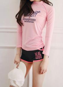 [걸스데일리]글로우 래쉬가드;핑크(핑크)