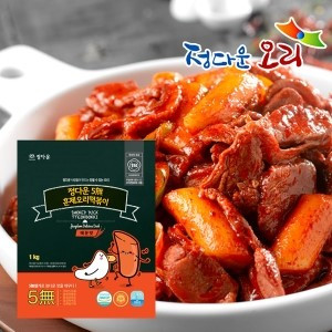 [정다운오리]오리고기/영양간식/국내산/캠핑요리/냉장 정다운훈제오리떡볶이 1kg