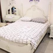 [광성가구] 샤르망 원목 화이트 침대 CL