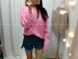 루즈핏 맨투맨 티셔츠 - 핑크, 화이트, 블랙