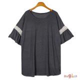 여성 빅사이즈 반팔티 2098 여름 티셔츠