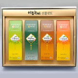 미니 삼각티백 선물세트 1호(뽕잎차+세작+천년황차+감잎차 삼각티백)/햇차원