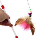 롱 와이어 깃털 낚시대 고양이장난감 (전체길이-110cm)