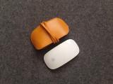 [중고]애플 매직마우스 가죽 파우치 옐로우(스크래치 상품)