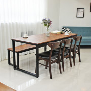 에그스타 전무후무2 4인용 6인용 8인용 원목식탁세트 멀바우 나무