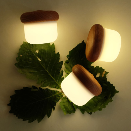 도토리 무드등 수유등 터치등 실리콘 LED 램프