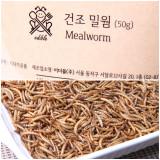 식용곤충 건조 고소애 100% (밀웜, 갈색거저리 유충) by 이더블버그