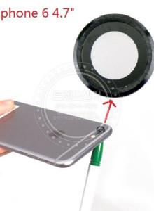 [카메라렌즈]아이폰 6 4.7 & quot위한 2 개 후방 카메라 유리 렌즈; 유리 렌즈 커버 교체 예비 부품 빠른 shpping으로 다시 카메라 홀더