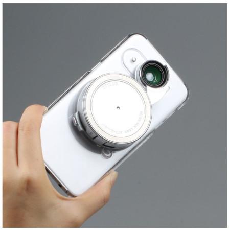 [Ztylus] 미국 지타일러스 삼성 갤럭시 s7 엣지(edge)용 회전식 렌즈(접사 와일드 피시아이 Cir-PL) 및 투명 케이스 키트