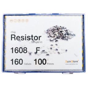 칩저항 키트 1608(0603) 사이즈 F급(1%) 160종 (100개입,200개입,300개입,500개입) /칩저항키트/저항키트/칩저항세트/저항세트/저항/칩저항/샘플키트