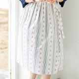 매화줄무늬 허리치마 여자한복