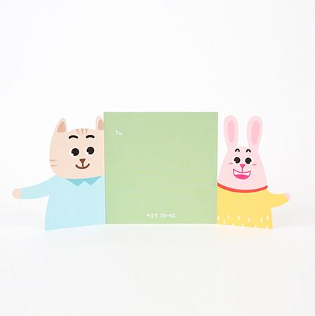 '사이좋게 지내' 카드 1set(5개)