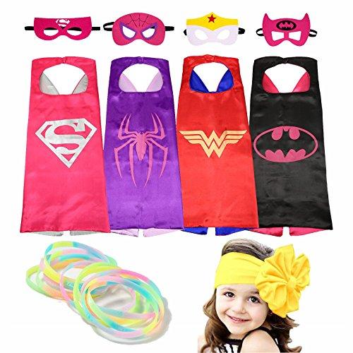 Superhero Costumes 여아 Cape and 가면 with Glow Bracelets and HeadBand : 홍길동 - 네이버쇼핑