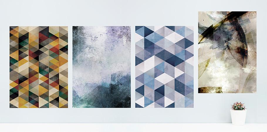 벽에 붙이는 셀프인테리어 패브릭 포스터- ABSTRACT Vol.1 (8종)