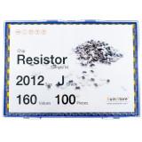 칩저항 키트 2012(0805) 사이즈 J급(5%) 160종 (100개입,200개입,300개입,500개입) /칩저항키트/저항키트/칩저항세트/저항세트/저항/칩저항/샘플키트