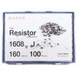 칩저항 키트 1608(0603) 사이즈 J급(5%) 160종 (100개입.200개입,300개입,500개입) /칩저항키트/저항키트/칩저항세트/저항세트/저항/칩저항/샘플키트