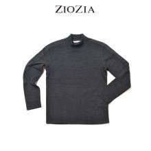 (지오지아/ZIOZIA) 골조직 소재 멜란지블랙 반폴라 티셔츠(ABW4TR1101/블랙)
