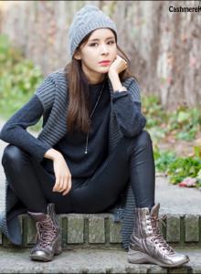 [캐시미어100%] 꽈배기 니트 비니 남녀공용 겨울 모자 [6컬러]