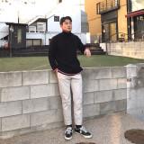 하프넥 트임 스웨터 (3color)