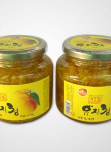 남해유자농장 유자청 1kg×2병/친환경(유기농)재배/유기가공식품
