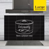 주방아트보드 키친플래너 / 딜리셔스 캔 블랙 / Large