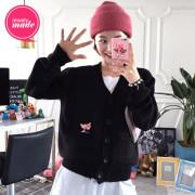 [임블리][핑크팬더정품]빼꼼이 핑크팬더 가디건/패치가디건/기본가디건/브이넥가디건/Y넥가디건/울가디건