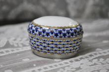 (예카공구) 14. 코발트넷 보석함 로모노소프 임페리얼 포세린 예쁜그릇