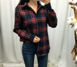 [무료배송] 여성 체크 기모 셔츠남방