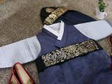 고급금박블랙복건모자+금박허리띠세트,남아한복모자,,돌한복모자,한복소품