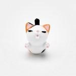 일본 직수입-플라이 네꼬 삼색무늬(えびぞりイヤホンジャック・ミケ)