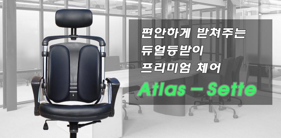 그린하우스 AtlasSette  듀얼백  편한 사무실의자 스틸프레임