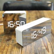 무아스 LED 알람시계 미러클락