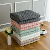 [데일리]순면 샴브레이 거실 카페트/침대 패드(5컬러 차콜,화이트,핑크,민트,베이지)