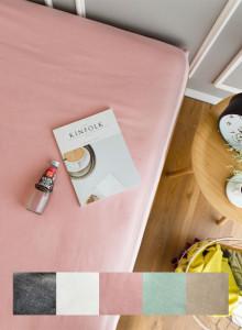 [데일리]5컬러 순면 샴브레이 매트리스커버(차콜,핑크,민트,베이지,화이트)