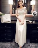 셀프웨딩 드레스 촬영용 여신보석 화이트 레이스 원피스