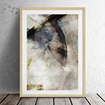 유럽산 우드프레임 포스터 원목액자 - Abstract no.01