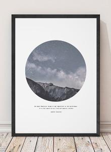 유럽산 우드프레임 포스터 원목액자 - Galaxy Hill