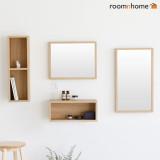 [룸앤홈]모던한 벽거울 벽선반 모리스 수납선반,벽거울(M/L) 안전고리 간편한조립,화장대선반