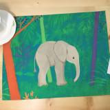 코끼리숲 테이블매트