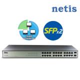 네티스 ST3324GF SNMP매니지먼트 기가비트 스위칭허브/24포트/스위치허브/SFP슬롯 2개/브로드컴 칩셋