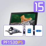 [각도형 할인패키지] 15형 PF1530IPS+WBT27+SD8GB+리더기 디지털액자/광고용/서브모니터/FullHD ips패널탑재