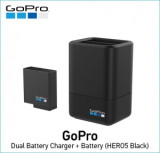 Dual Battery Charger + Battery (HERO5 Black) (GO515)