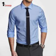 남자 슬림핏 긴팔 셔츠 A1001 파란색 와이셔츠